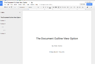 Document Outline View